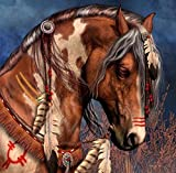 DIY Diamond Painting Cross Stitch Animal Brown Horse Feather Rubik 5D Pictures of Crystal Embroidery Mosaic Kits 30x30cm(12x12'')
