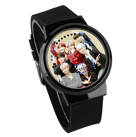Fanmuran Reloj Digital de Pulsera LED Pantalla táctil Reloj Inteligente KPOP BT21 Coreano Impermeable Reloj Moderno diseño Apoyo de Jimin Jin Suga Jungkook ...