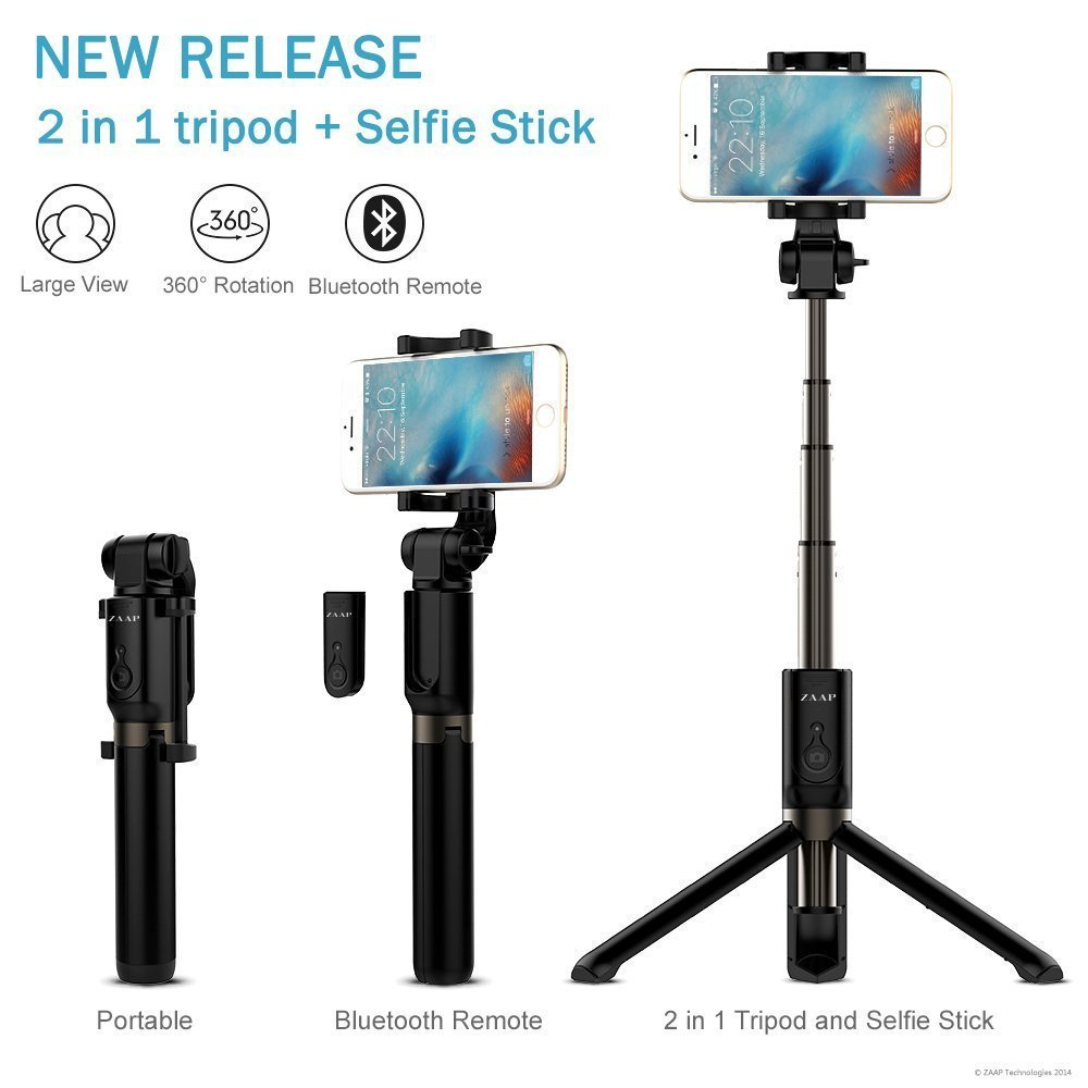 ed5fbf0b31e17c ZAAP USA NUSTAR Aluminium Bluetooth Monopod Selfie: Amazon.in: Electronics
