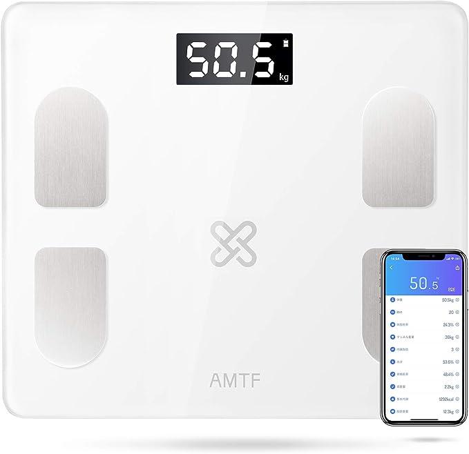 体重計 体脂肪計 高精度センサー体重・体組成計 体重/脂肪/BMIなど21種類測定可能 スマホ連動 収納便利 複数ユーザー登録に対応 iOS/Androidアプリで健康管理 日本語APP&取扱説明書 使用簡単 電池付属