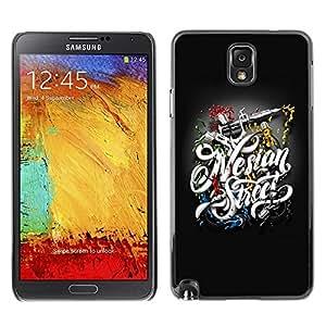 LECELL -- Funda protectora / Cubierta / Piel For Samsung Galaxy Note 3 N9000 N9002 N9005 -- Tattoo Gear --