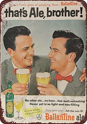 Ballantine Ale - 1954 Ballantine Ale Beer Vintage Reproduction Metal Sign 8 x 12