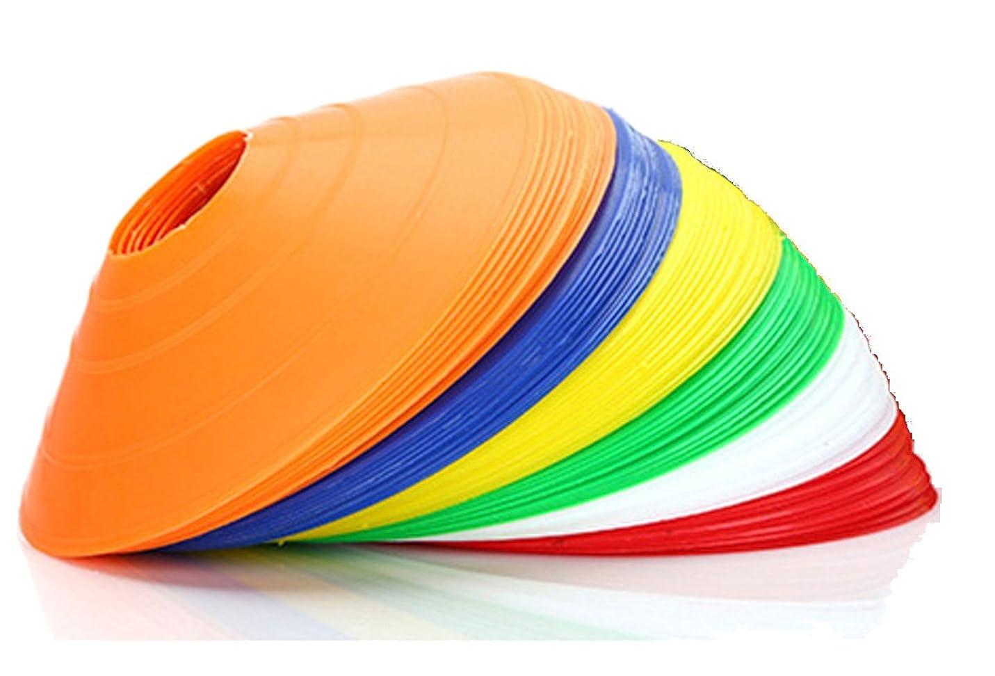 数学的な閉じ込めるピークYapeer マーカーコーン カラーコーン サッカー トレーニング用品 (10個セット)