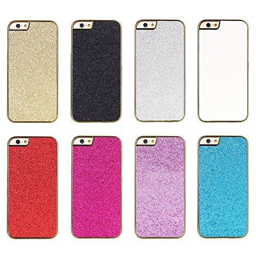 """iProtect iPhone 6 (4,7"""") Housse paillettes poudre Flash Powder Hard Case en doré et doré"""