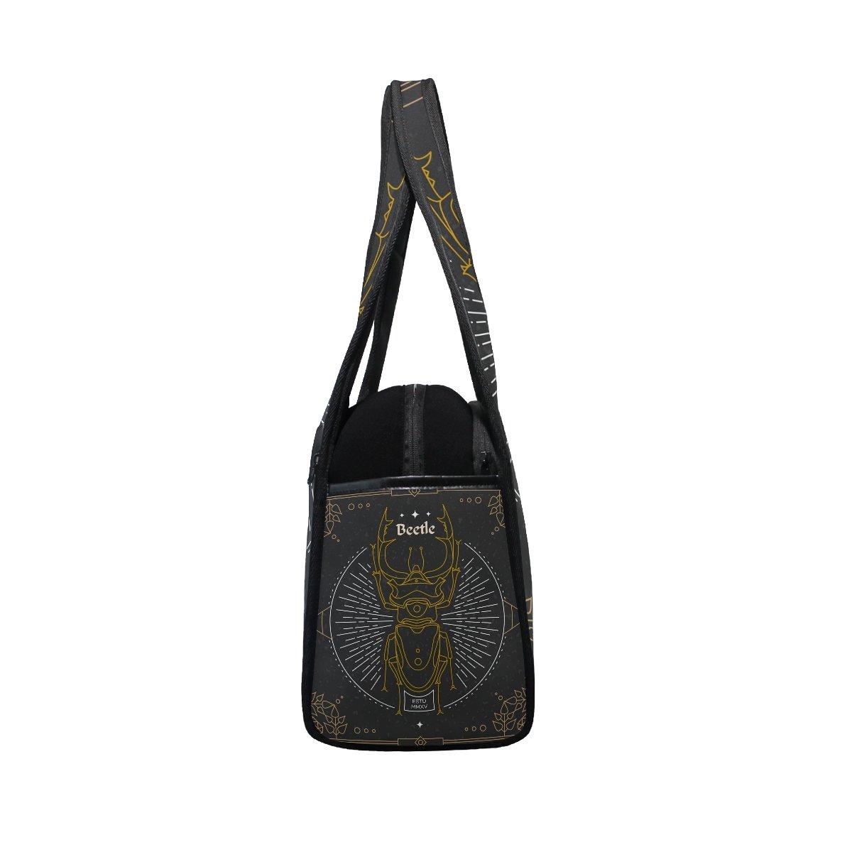 AHOMY Canvas Sports Gym Bag Vintage Mysterious Animal Travel Shoulder Bag
