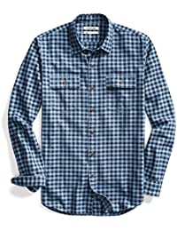 Men's Slim-Fit Plaid Twill Shirt