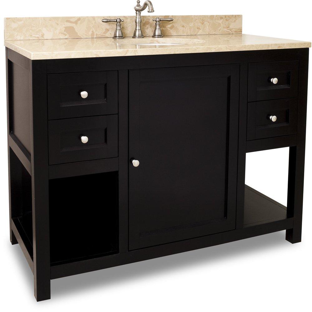 Jeffrey Alexander Lyn Design Vanity with Top with Mirror - VAN092-48-T / MIR092-30 - Espresso