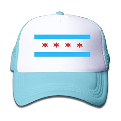 Actuallyhome New Style Chicago Flag Mesh Hat For Kids Adjustable Baseball Cap