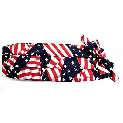 American Flagタキシードカマーバンドと蝶ネクタイセット