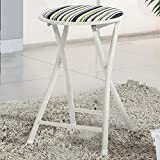 GAOJIAN Stool Folding Metal Chair Household Dining Table Stool Fishing Stool Portable Oxford Small Stools , a