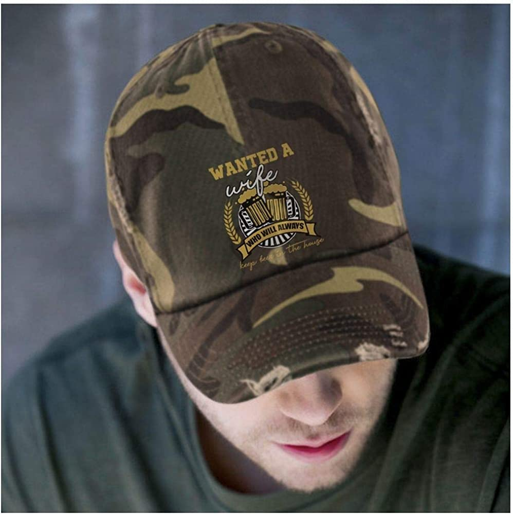 I Love Beer District Distressed Dad Cap Keep Beer in The House Hat