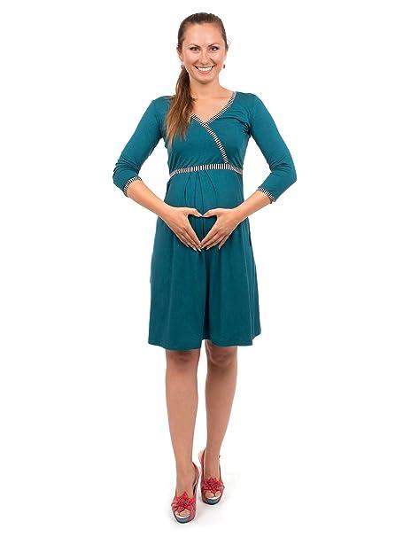 Viva la Mama Lactancia Vestido I 3 in1 premamá Embarazo Mujer Vestido de premamá Embarazadas Vestido I Embarazo Mode Vestido Lactancia Tiempo ...
