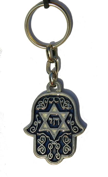 Amazon Hamsa Key Chain With Star Of David With Travelers