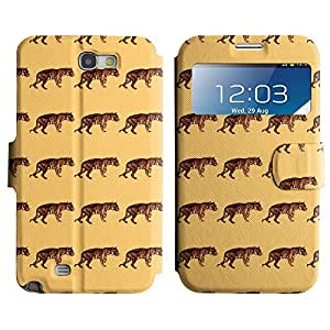 LEOCASE tigre lindo Funda Carcasa Cuero Tapa Case Para Samsung Galaxy Note 2 N7100 No.1006190