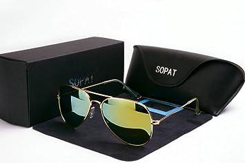 sopat funda hombre mujer gafas de sol Sport polarizadas polarizadas Metal gafas de sol gafas de