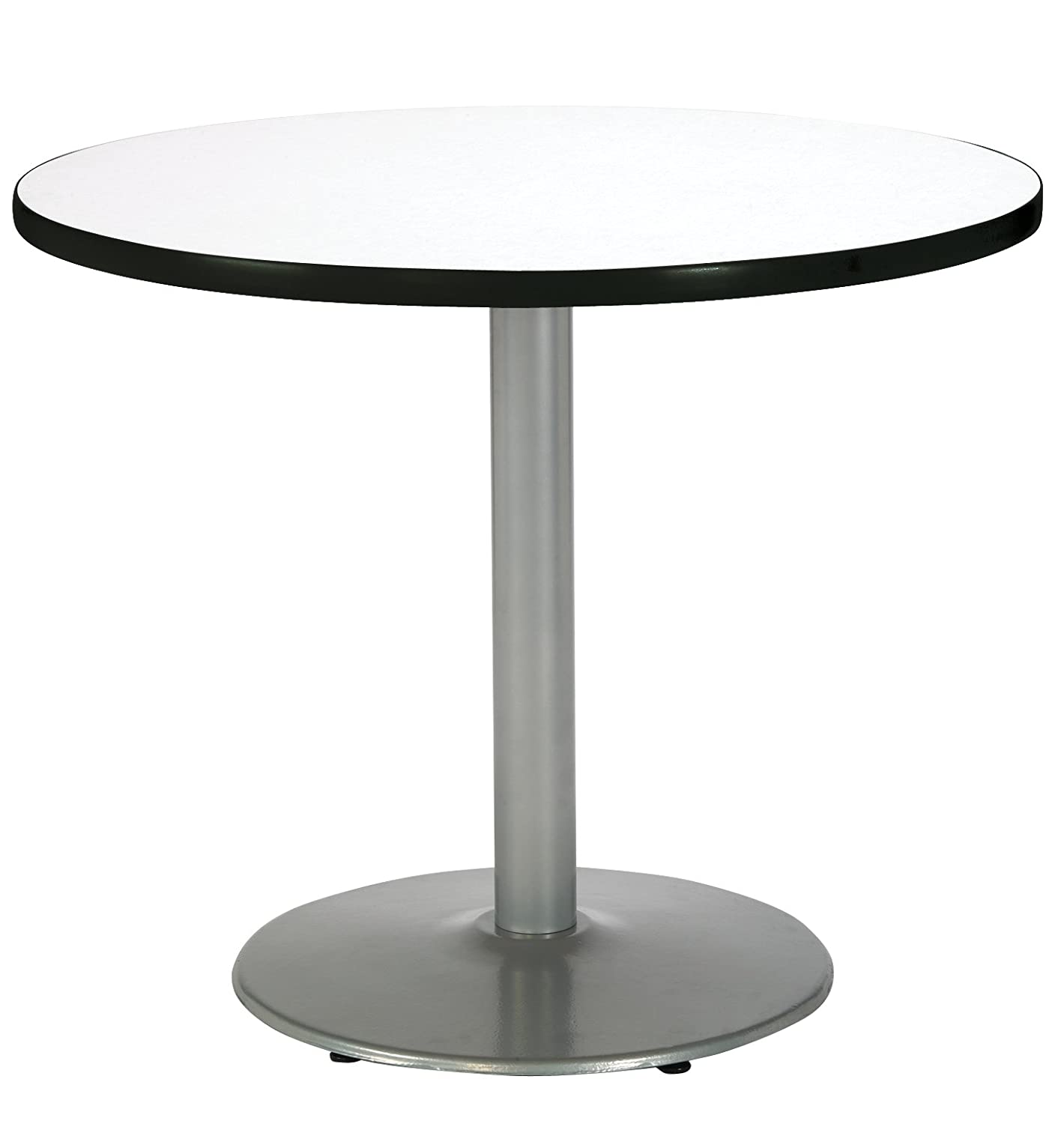 Amazon Com Kfi Seating Round Pedestal Table With Round Silver Base