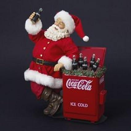 27,94 cm trabécula colaâ Santa Claus con refrigerador mesa de Navidad