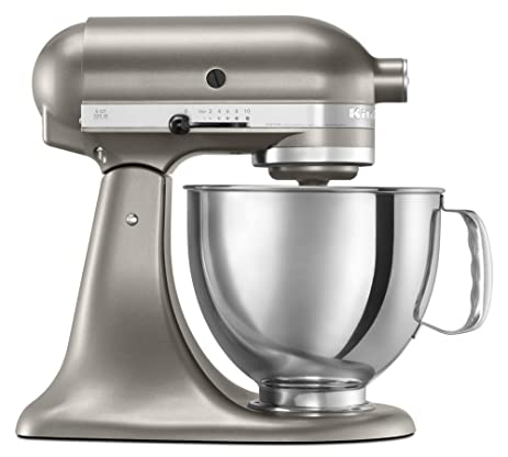 Kitchen Aid Artisan Stand Mixer 5KSM150 Cocoa Silver, Comes With ACUPWR  Plug Kit, WILL