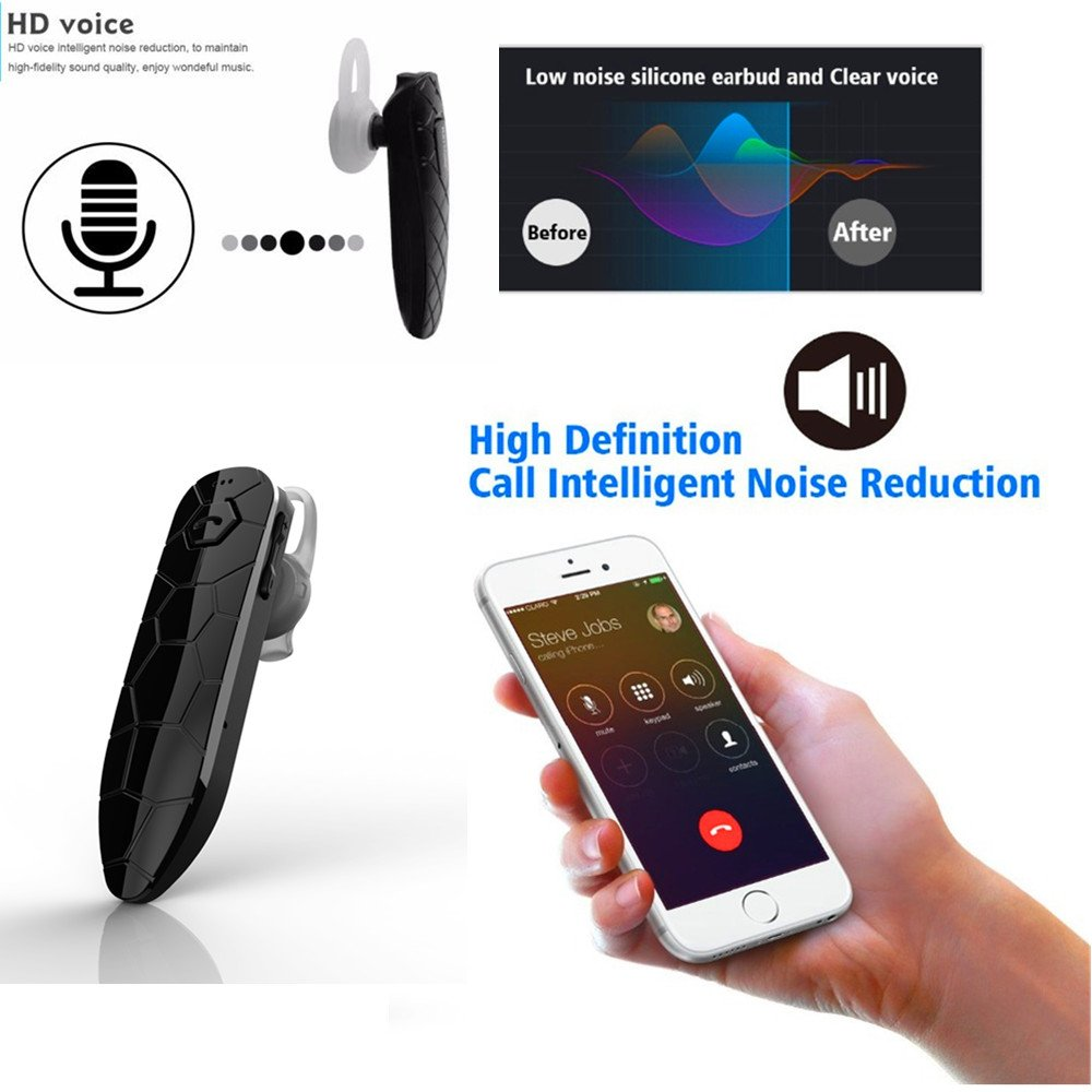 Cordless Bluetooth Earbuds, Cherry Wireless Headphone Smallest Mini V4.1 Invisible in-Ear Earphone 32 Hours Talking Time Sweatproof Car Headset with HD Mic for iPhone and Android Smart Phones (One Pc by Cherry (Image #3)