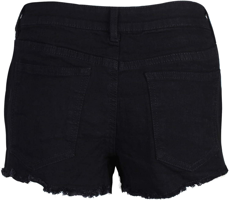 BlauerHafen con Ricamo Pantaloni Corti da Donna in Jeans
