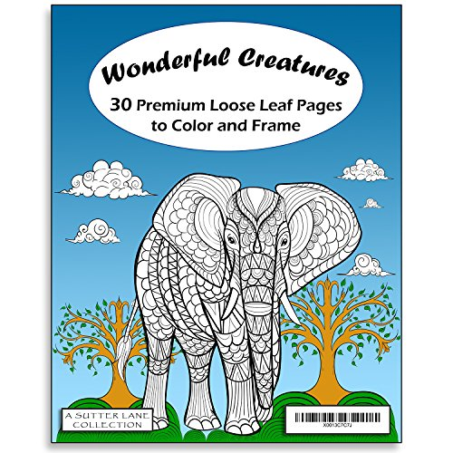 Wonderful Creatures Adult Coloring Book