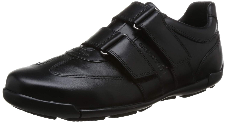 Geox U843BA Edgeware Eleganter Herren Business Schuh, Turnschuhe, Anzugschuh, Halbschuh mit Klettverschluss, Gummisohle, Atmungsaktiv