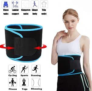 FEimaX Waist Trimmer Belt, Waist Trainer Belt for Women & Men, Waist Support & Abdominal Stabiliser, Weight Loss Ab Belt with Sauna Effect