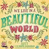 Orange Circle Studio 16-Month 2017 Wall Calendar, We Live in A Beautiful World (51204)