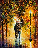 Autumn Walk is a Limited Edition print from an edition of 400. The artwork is a hand-embellished, signed and numbered Giclee on Unstretched Canvas by Leonid Afremov. This wonderful artwork is one of Afremov's most popular Autumn images of all time. T...