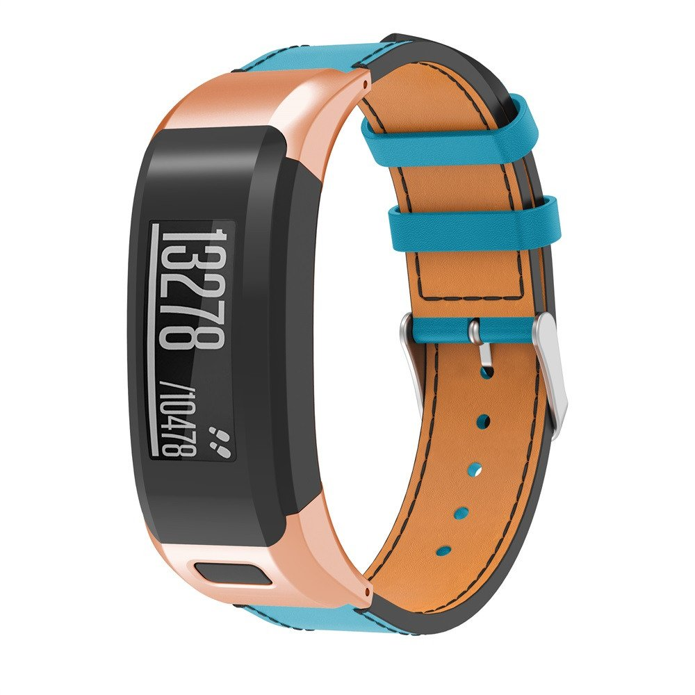 LANSKIRT Lujo Reemplazo de Cuero Correa de Reloj Banda de Pulsera Recambio Brazalete para Garmin VIVOsmart HR: Amazon.es: Juguetes y juegos