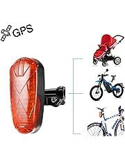Rastreador de GPS, bicicleta Rastreador de GPS Dispositivos de rastreo de GPS ocultos para motocicletas con luz de cola de LED en línea Alarma de velocidad excesiva SOS impermeable Fácil de ocultar TK906