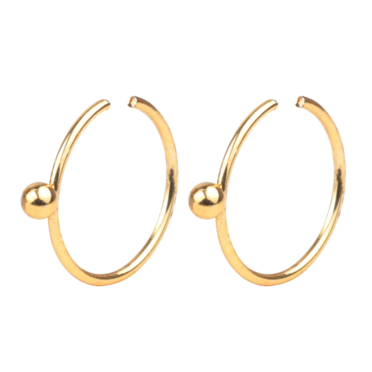 FORYOU FASHION Surgical Steel 22G 8mm Nose Rings Piercing Jewelry Hoop Nose Ring