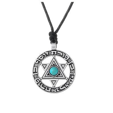 Amazon.com: Círculo con Estrella de David Collar Étnico ...
