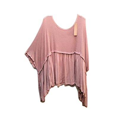 ccdd193db58 New Ladies Womens Italian Lagenlook Asymmetrical Boho Plus Size Loose  Floaty Tunic Dress Top uk 16 18 20 22 24 (Light Pink): Amazon.co.uk:  Clothing