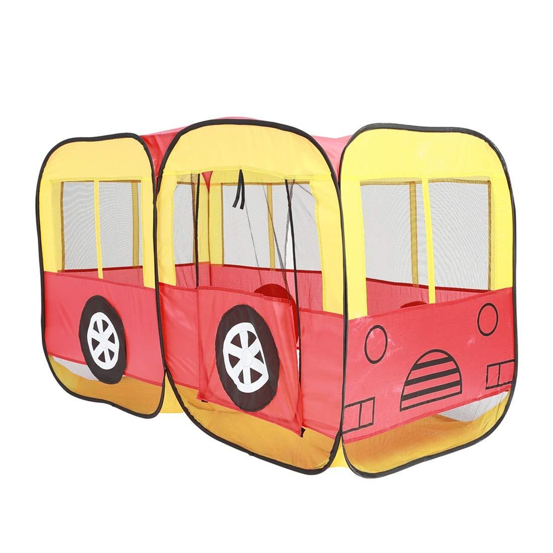 Nekovan イエロー) 子供の子供屋内テントのおもちゃのプレイハウスバスタイプの折りたたみポータブル Nekovan (色 : B07R4FDBPT イエロー) イエロー B07R4FDBPT, こだわり食材マーケット:efb0d9c0 --- number-directory.top