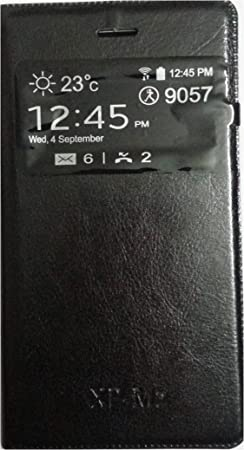 GT Flip Cover for Sony Xperia M2  Black  Mobile Accessories