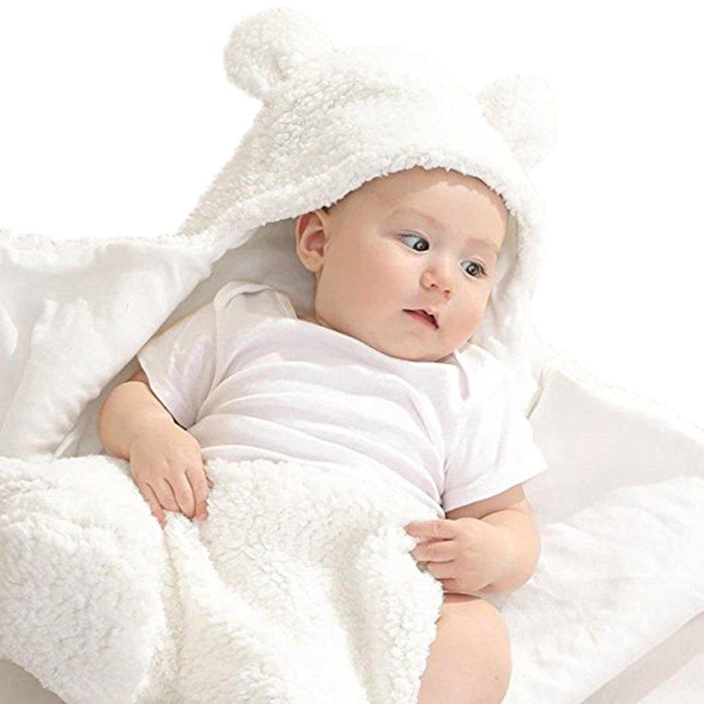 Newborn Baby Boys Girls Cute Cotton Plush Receiving Blanket Sleeping Wrap Swaddle by Pinleck (Image #6)