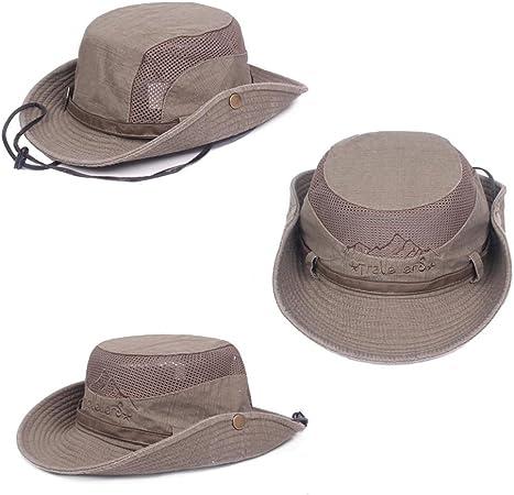 Demarkt Unisex Sonnenhut UV Schutz Atmungsaktiv Quick Dry Fischerhut Hiking Strand Faltbar Safari Buschh/üte Cap UV Schutz