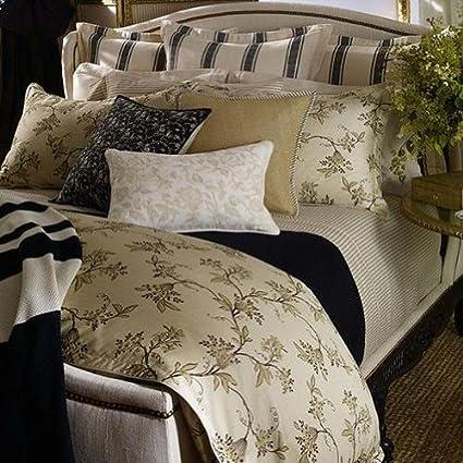 Amazon.com  Ralph Lauren Plage D or Queen Comforter Champagne Black ... e0dde04bde574