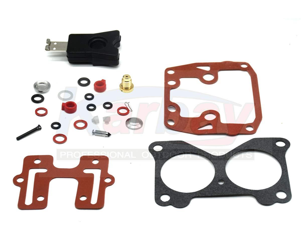 Karbay Carburetor Repair Kit For 18-7046 439076 with Float Johnson