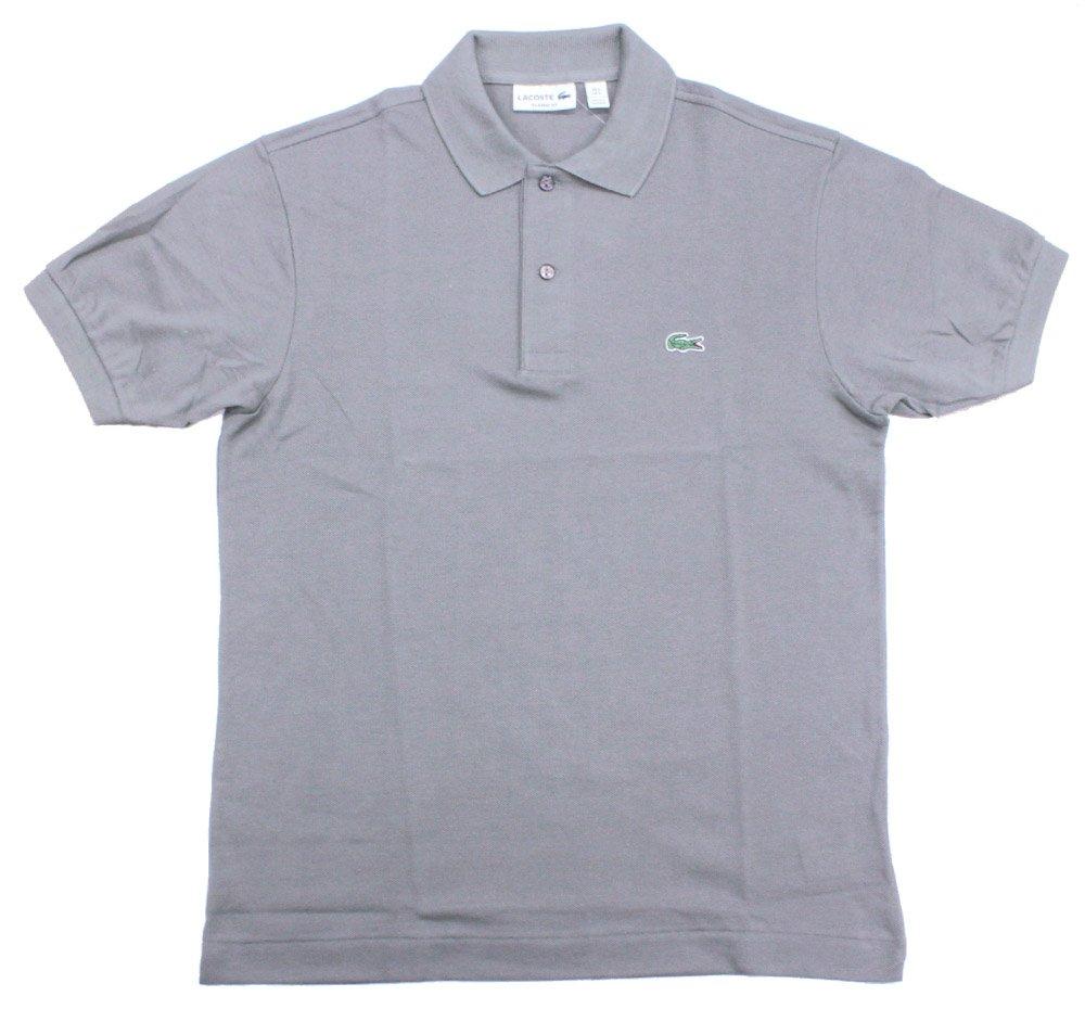ラコステ メンズ LACOSTE MENS ベーシック 半袖 ポロシャツ ポロ トップス メンズ 男性用 Men's Standard S/S Polo shirt ( L1212 ) [並行輸入品] B07C5SDHH1 4-M日本(L)|グレー グレー 4-M日本(L)