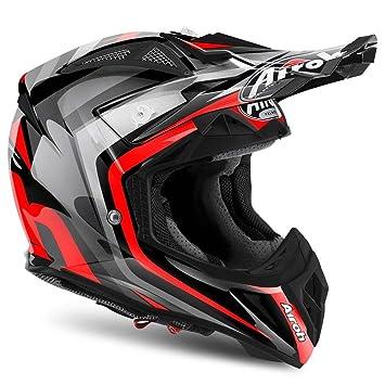Airoh Aviator alerta rojo Full Face casco Moto-X