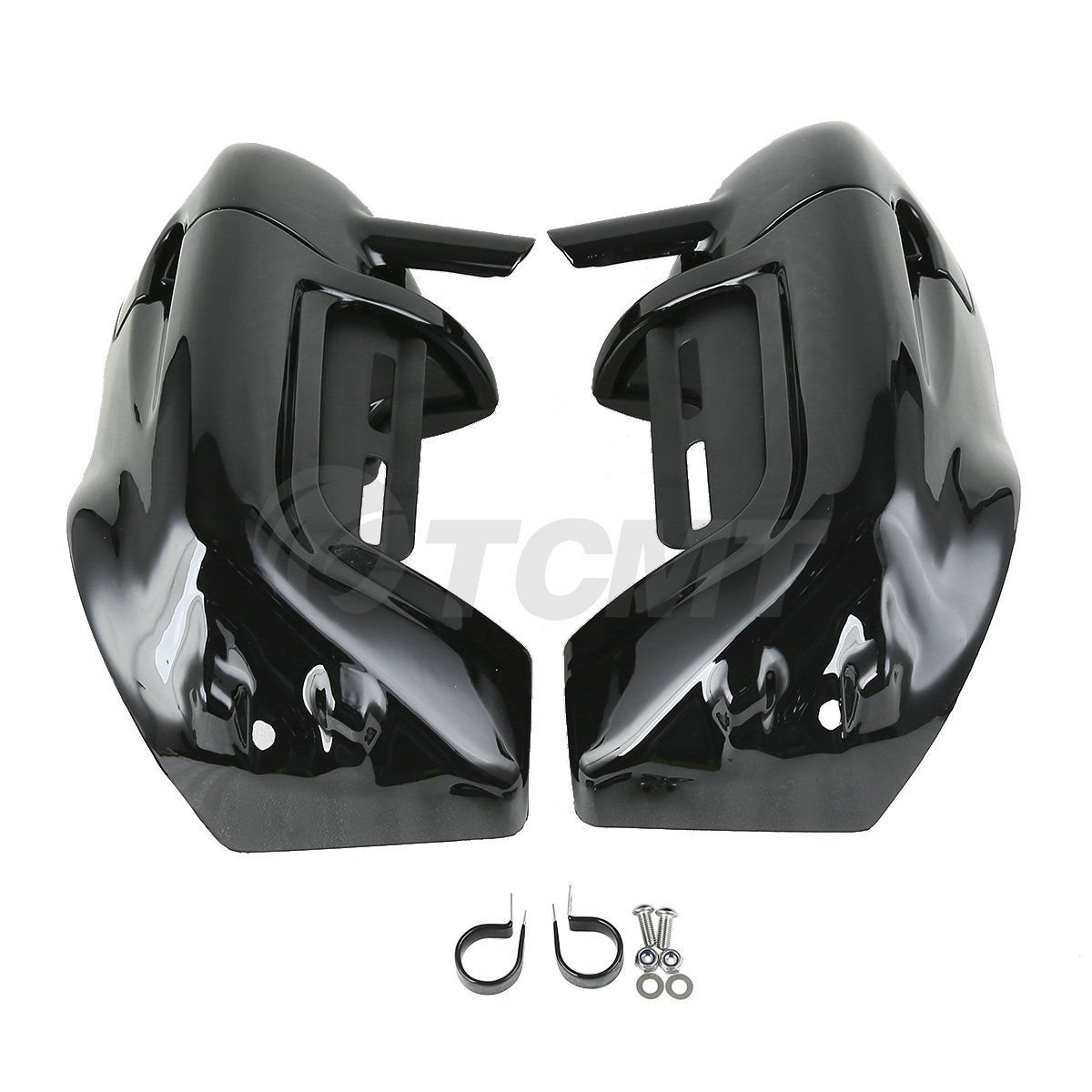 TCMT Black Glove Box Lower Vented Leg Fairings For Harley Touring Ultra-Classic 1983 1984 1985 1986 1987 1988 1989 1990 1991 1992 1993 1994 1995 1996 1997 1998 1999 2000 2001 2002 2003 2004 2005 2006 2007 2008 2009 2010 2011 2012