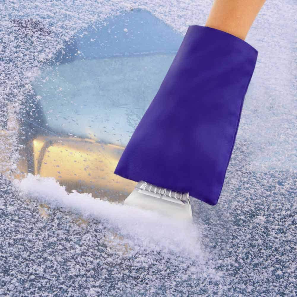 Surplex 2 Piezas Rascador de Hielo con Guante para Quitar el Hielo de Parabrisas Pala de Nieve Invierno Impermeable Quita Nieve remoci/ón Pala Guantes de calefacci/ón de rascador de Coches
