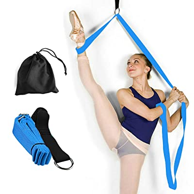 Yoga Stretch Strap - to Improve Leg Stretching - Perfect Home Equipment for Ballet, Dance, Warm upand Gymnastic Exercise - Excellent Gift for Your Friends, Children, and Loved Ones (Light Blue): Toys & Games