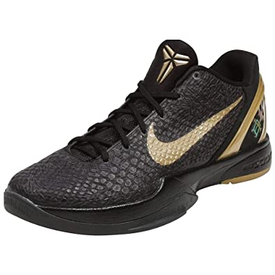 online retailer a9bbf 7ba89 Amazon.com   Nike Zoom Kobe VI BHM Black History Month Mens Basketball  Shoes Black Metallic Gold 429659-011-10.5   Shoes