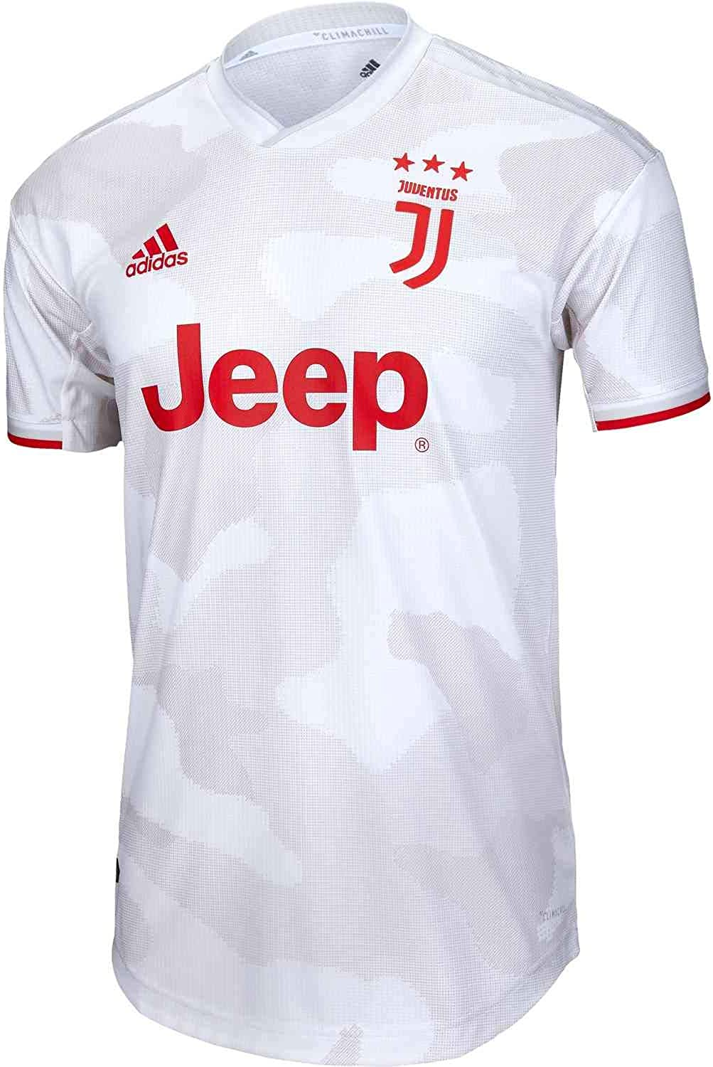 Amazon Com Adidas 2019 20 Juventus Authentic Away Jersey Grey Red L Clothing