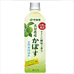【ドリンクの新商品】伊藤園 日本の果実 大分県産かぼす 500g×24本