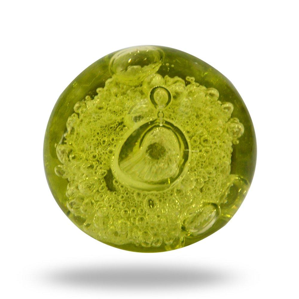 Trinca-Ferro Glas-Perlenknauf, Olivgrü n
