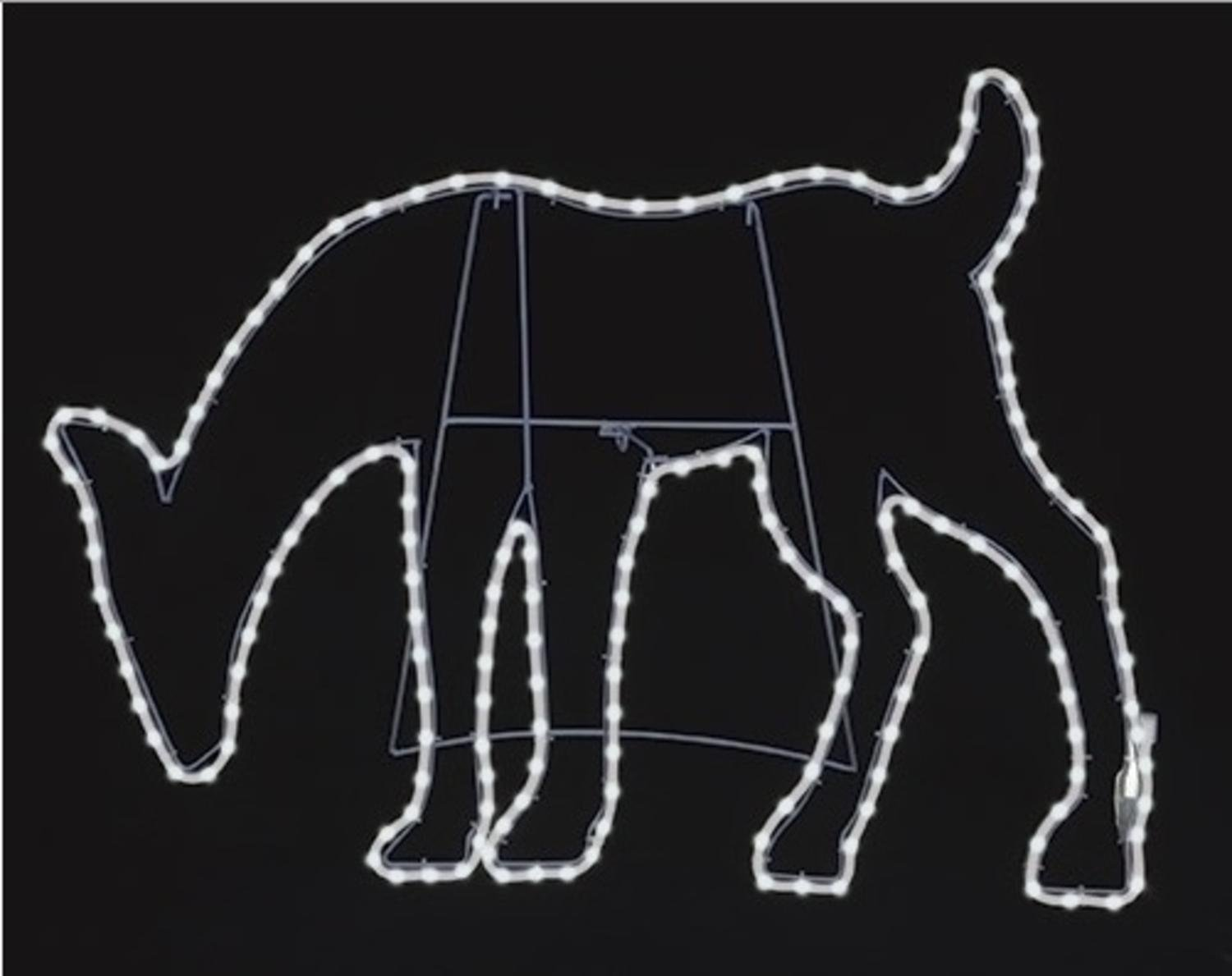 31'' Pure White LED Lighted Outdoor Deer Head Down Yard Art Silhouette with Neon Flex Rope Lights